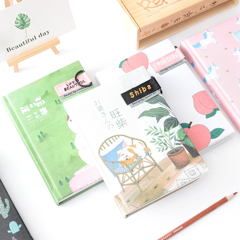 Kawaii Unicorn Notebook Journal Cute Cactus Planner Diary Books For Writing Kids Gift Korean Stationery Office School Supplies cute kawaii cartoon rabbit journal notebook diary planner notepad for kids gift korean stationery wj0014
