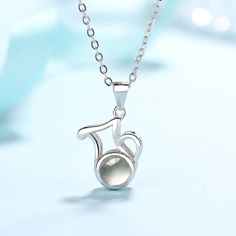 12 Stil Choker Halskette Zwölf Konstellationen 925 Silber Frauen Mädchen Dame Anhänger Mode Schmuck Widder Taurus Gemini Krebs Leo