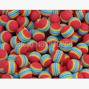 Free Shipping Light-weight Golf Swing Training Aids Indoor Practice Sponge Foam Rainbow Balls#2087 B2