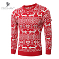Men Women Pullover Casual Spring Sweater with Deer Slim Fit Pullover O Neck Sweater Plus Size Christmas Festival Sweater
