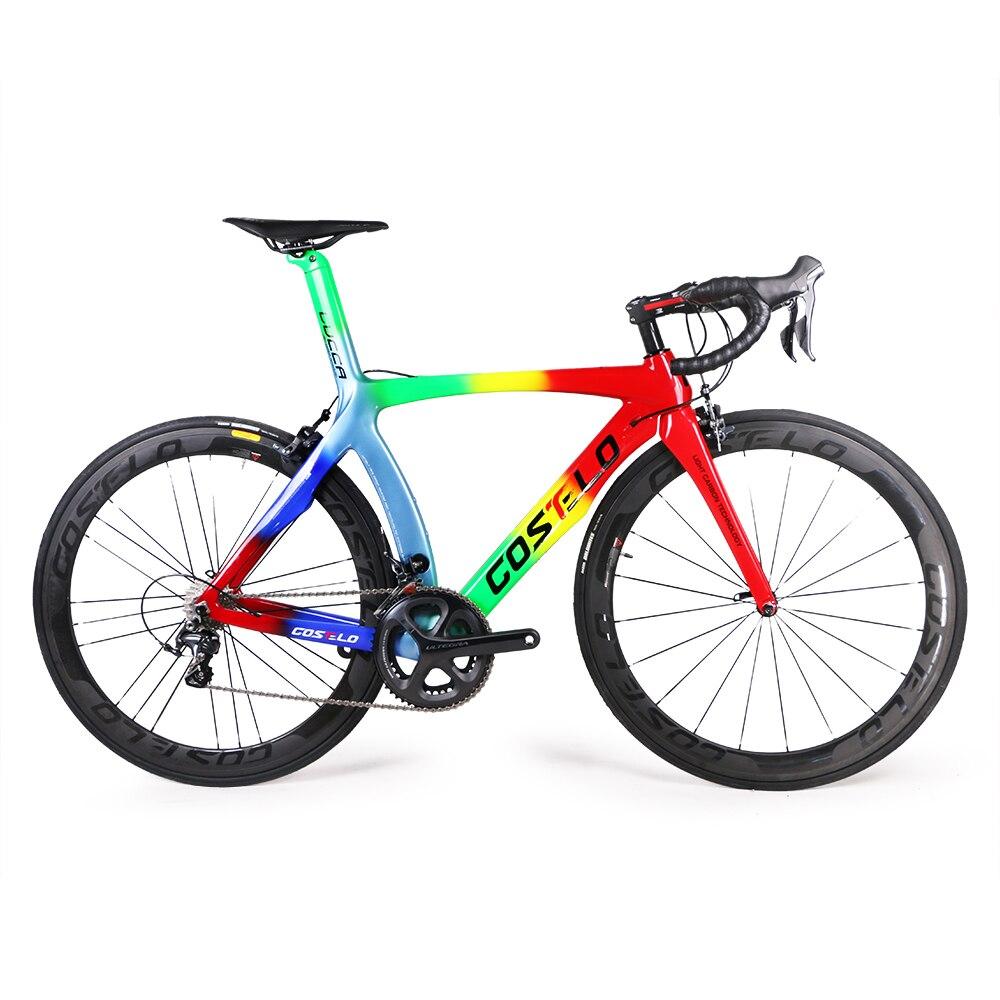 2017 costelo lucca de carbono bicicleta de carretera bicicleta llena del carbón