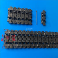 Plastic Track Double Holes For DIY Robot Tank Smart Car Caterpillar 4 0X93cm