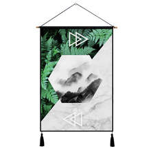 Nordic Hanging Painting Marble Leaf Print Wall Art Print Poster Picture Modern Mural Wood for Livingroom Background Home Decor banana leaf tassel hanging painting wall decor print