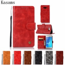 """Retro Fundas For Samsung Galaxy J7 Neo J701M 5.5"""" J7 Nxt J701F Core Duos J700 Leather Case Flip Cover Wallet Stand Phone Shell"""