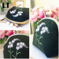 Handmade Wool Embroidery Shoulder Bag Vintage Retro Girly Shabby Chic Country Rustic Victorian Folk Stylish Green Messenger Bag