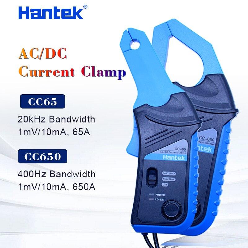 CC650 ac dc current clamp meter atual braçadeira cc65 Hantek handheld osciloscópio multímetro com Conector BNC