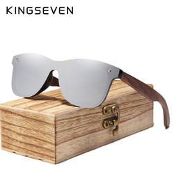 KINGSEVEN 2019 мужские солнцезащитные очки для женщин поляризационные орехового дерева зеркальные линзы защита от солнца Очки для бренд
