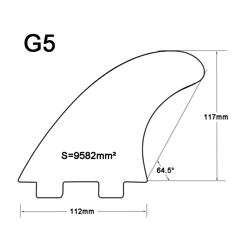 Surf Surfboard FCS Fins G5 Top Quality Բամբուկե Հիմքը - Ջրային մարզաձեւեր - Լուսանկար 6