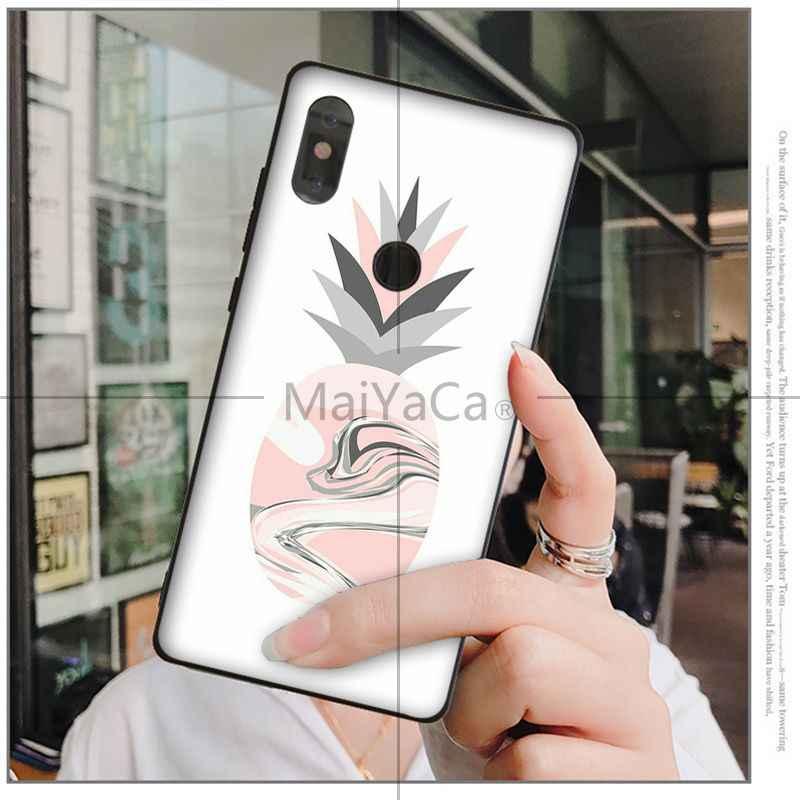 MaiYaCa Delizioso frutto ananas TPU Cassa Del Telefono Nero per Huawei Mate10 Lite P20 Pro P9 P10 Più Mate9 10 Honor 9 10 vista 10