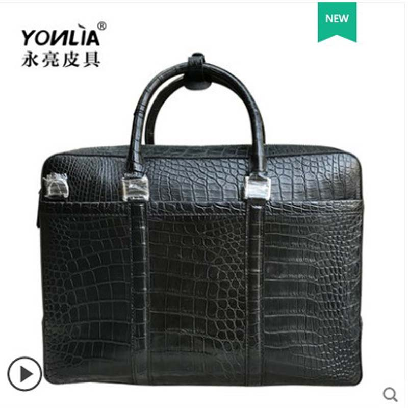yongliang Leather Crocodile Belly Men 39 s Handbag Genuine Leather Men 39 s Bag for Leisure Office men handbags