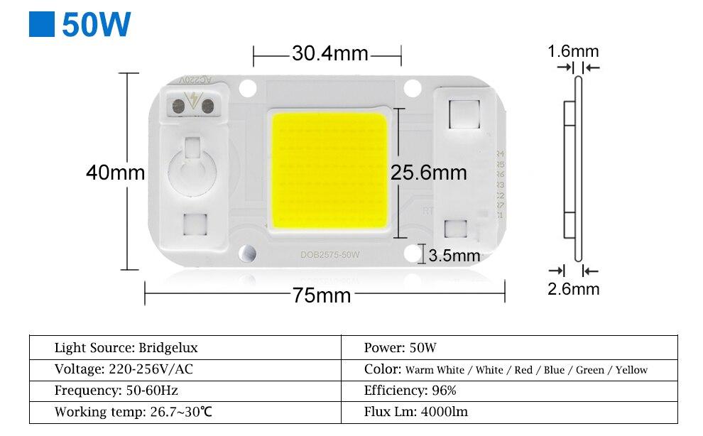 AC220V 20w 30w 50w cob led grow light chip (13)