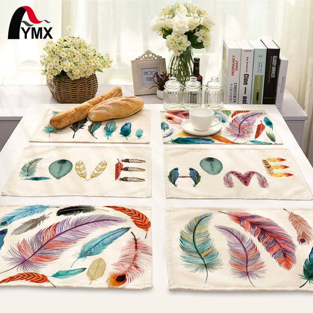 42*32cm Table Polyester Napkins/Decoupage/Dining/Scrapbooking /Peacock Feathers Table Na ...