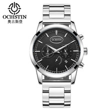 New Men's Stainless Steel Strap Quartz Watches Top Brand Luxury Watch for Men Fashion Business Wrist Watch Male Watchstrap Clock dom men s watches top brand luxury waterproof mechanical stainless steel watch male business clock wrist watch for men hot m 57