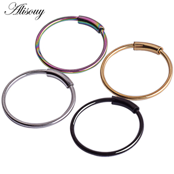 Alisouy Hinged Clicker Seamless Piercing Nose Ring Hoop Lip Ear Ring Body Jewelry 1