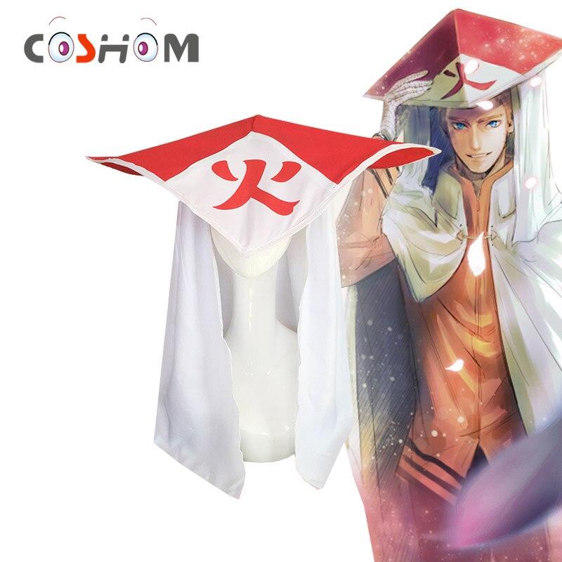 Coshome Naruto Shippuden Cosplay Hats Caps Uzumaki Naruto Boruto Hokage Sun Hats Anime Cosplay Accessory