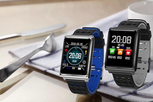 Rundoing N98 Color LCD Smart Wristband Waterproof Smart bracelet Heart Rate Fitness Tracker Smart band Smart Watches
