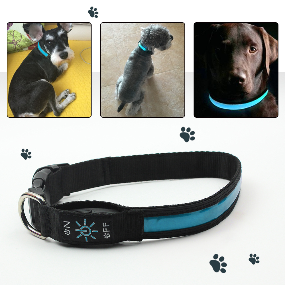 Esater Day Light for Pets Dogs Solar LED Dog Collar USB Safety Night Flashing Cat Necklace Leash Luminous Collars Pet Supplies dog puppy pet cat rope for small pets cute leash