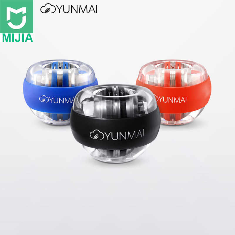 Xiaomi YunMai Wrist Ball LED Gyroball Essential Spinner Gyroscopic Forearm Exerciser Gyro Ball in Stock