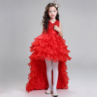 Retail Princess V Neck Flower Girl Dresses For Weddings Kid Girl Pageant Dress With Long Train