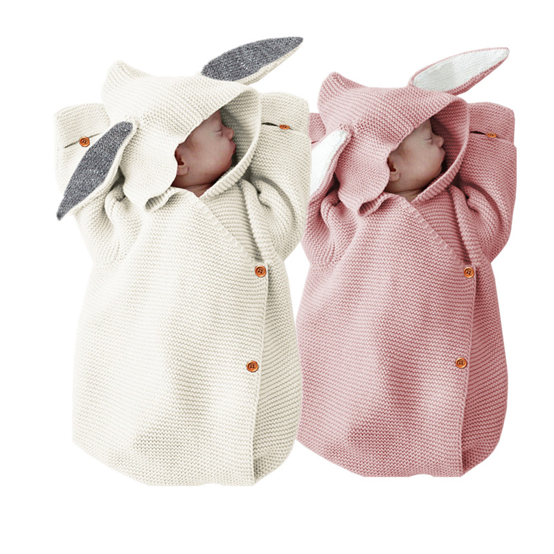 Spring Baby Rompers Girl Long-sleeve Knitted Overalls knitted sleeping bag Infant Girl Princess Cotton Clothes Baby Girl Onesie