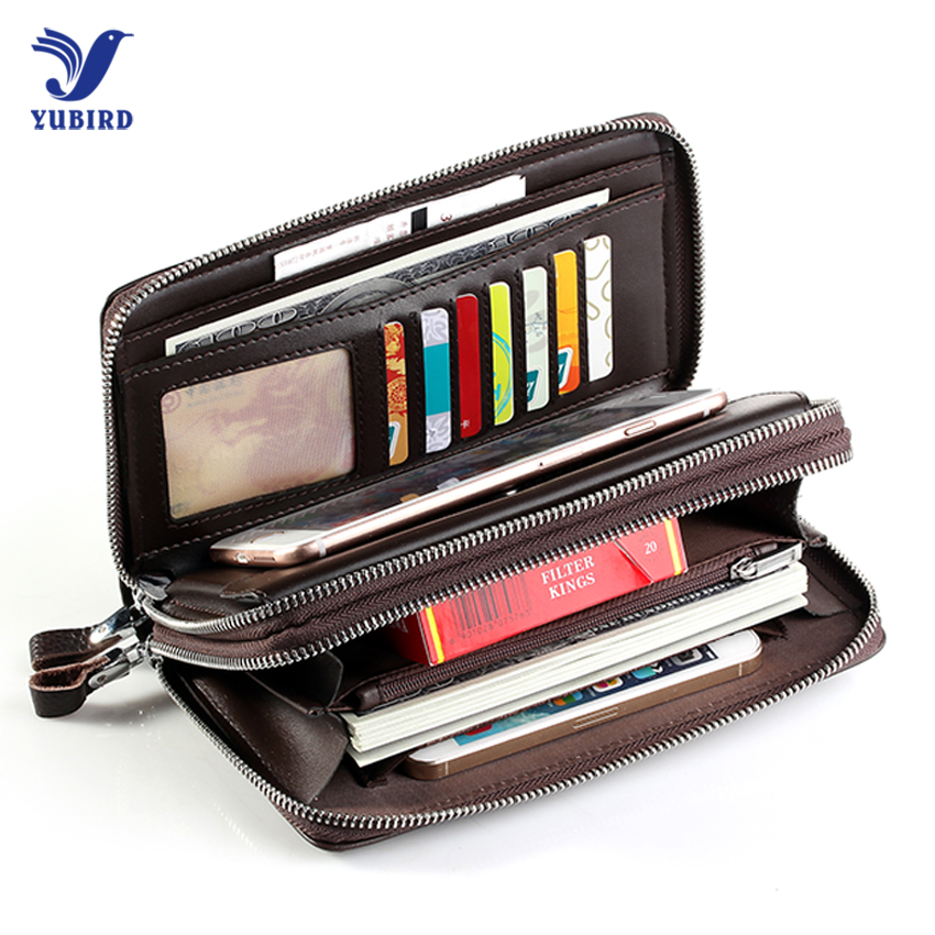 Luxury Brand Business Men Wallets Long PU Leather Cell Phone Clutch Wallet Purse Hand Bag Top Zipper Large Wallet Card Holders luxury genuine leather men wallets large capacity cowhide men clutch phone bag purse zipper vintage long wallet casual hand bags