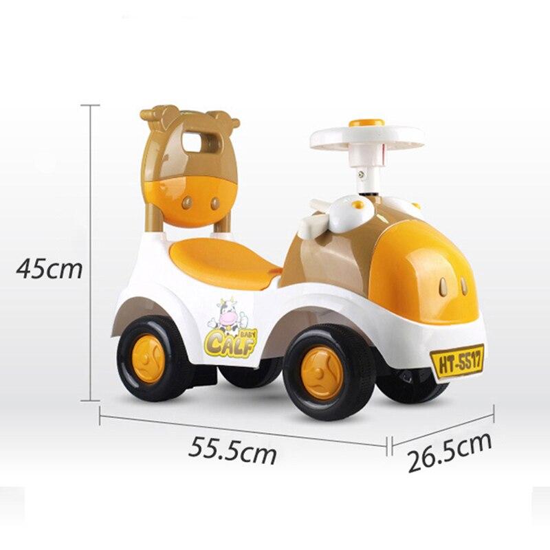 Детский Сияющий автомобиль ходунки, игрушка для детей, катающаяся на автомобиле, От 1 до 3 лет, детский скутер, балансировочный велосипед, поезд, ходунки, 4 колеса - 5