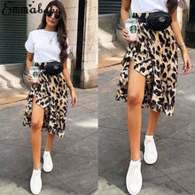 2019 Women's Mini Skirt Leopard Print High Waist Lady Sexy Fashion Cocktail Club Hot Sale недорого