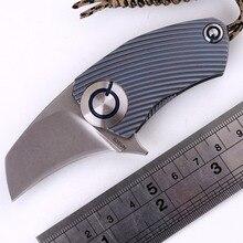 John Ben made SiDis Parrot ball bearing S35vn blade Titanium Handle folding Hunting pocket outdoor camping knife knives EDC tool