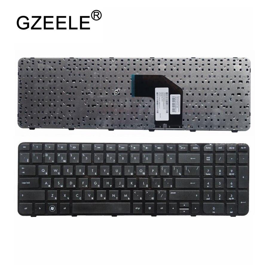 GZEELE Russe clavier D'ordinateur Portable POUR HP Pavilion G6-2000 G6Z-2000 g6-2100 G6-2163sr AER36Q02310 R36 RU NOIR Cadre G6-2365EA