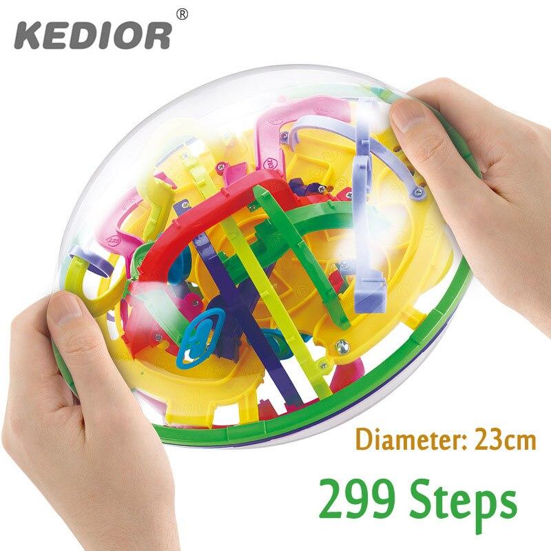 3D laberinto mágico bola perplexus intelecto bola juguetes educativos mármol puzzle juego IQ balance juguete