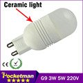 LED G9 220V 240V G9 3W 5W 7W LAMPS Ceramic light 2835 SMD Crystal led bulb Cold white Warm white wholesale free shipping