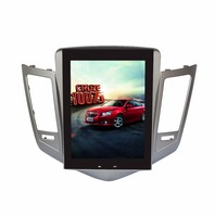 Android 1/2GB 16/32/64GB GPS Navi 10.4 Vertical Screen Tesla Style Car DVD Multimedia for Chevrolet Cruze 09 with BT/RDS/Radio