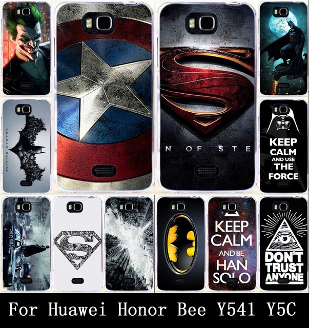 the best attitude d9513 f66bb US $3.29 |AKABEILA Cool Captain America Keep Calm Batman Painted Hard PC  Case For Huawei Honor Bee/ Y5C/Y541 Cases Soft TPU Cover Back-in Fitted  Cases ...