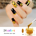1pcs Colorful Soak Off UV Gel Glitter Gel Nails Polish Nail Art Decoration Varnish New Style 24 Colors to Choose