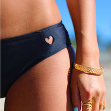2015 Sexy Women Brazilian Bikini Swimwear Thong Love Heart Cut Out Bottom Beach  Swimwear Bikini