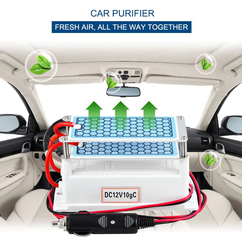 12v 10g Car Air Purifier Freshener Ozone Generator Humidifier Air Purifier Cleaner Car Purifier Ceramic Plate Air Sterilizer