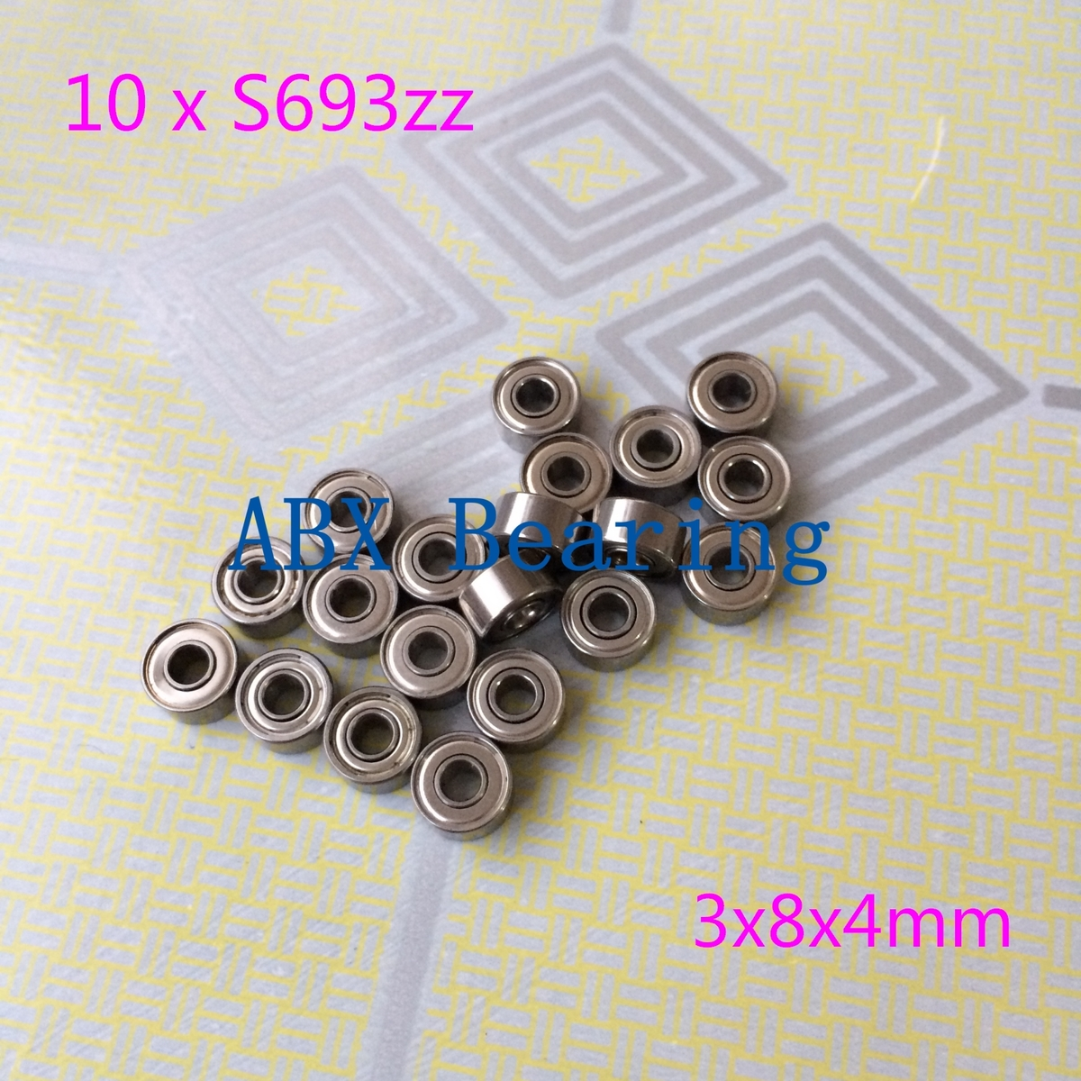 Free Shipping 10 PCS S693ZZ S693Z S693 693ZZ 693 Bearings 3x8x4 mm Stainless Steel Ball Bearings DDR-830ZZ SSR-830ZZ 3*8*4 mm free shipping 10 pcs 684zz 684z 684 bearings 4x9x4 mm miniature ball bearings l 940zz abec5
