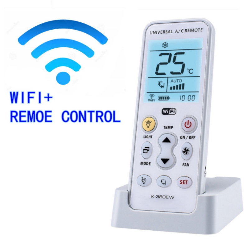 WIFI Universal A/C controller Air Conditioner air conditioning remote control K-380EW universal 1 5 lcd air conditioner a c remote control controller white 2 x aaa