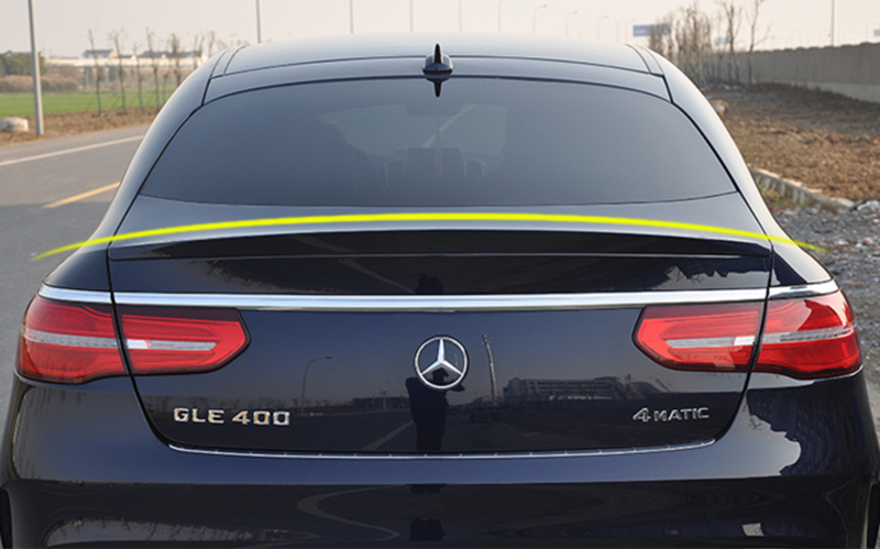 ABS Plastic Unpainted Rear Trunk Wing Spoiler For Mercedes-Benz GLE Coupe GLE320 GLE300 GLE400 GLE500 2015 2016 2017 Car Styling w205 c63 style carbon fiber car rear trunk lip spoiler wing for mercedes benz w205 4door 2015 2016