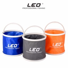 LEO 5L Outdoor Canvas Bucket Folding Bucket Portable Camping Hiking Fishing Bucket Fishing Tackle Tools