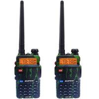 BAOFENG UV 5R Camouflage Color Dual Band Two Way Radio Free Earpiece Baofeng UV 5R Walkie