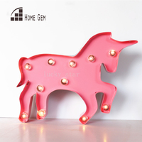 12inch metal Unicorn shape LED Marquee Sign LIGHT UP Indoor Deration