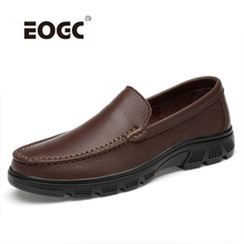 купить Genuine Leather Men Casual Shoes Loafers Top quality Comfortable Handmade Slip on Shoes Men Classic Sewing Driving Shoes по цене 2336.91 рублей