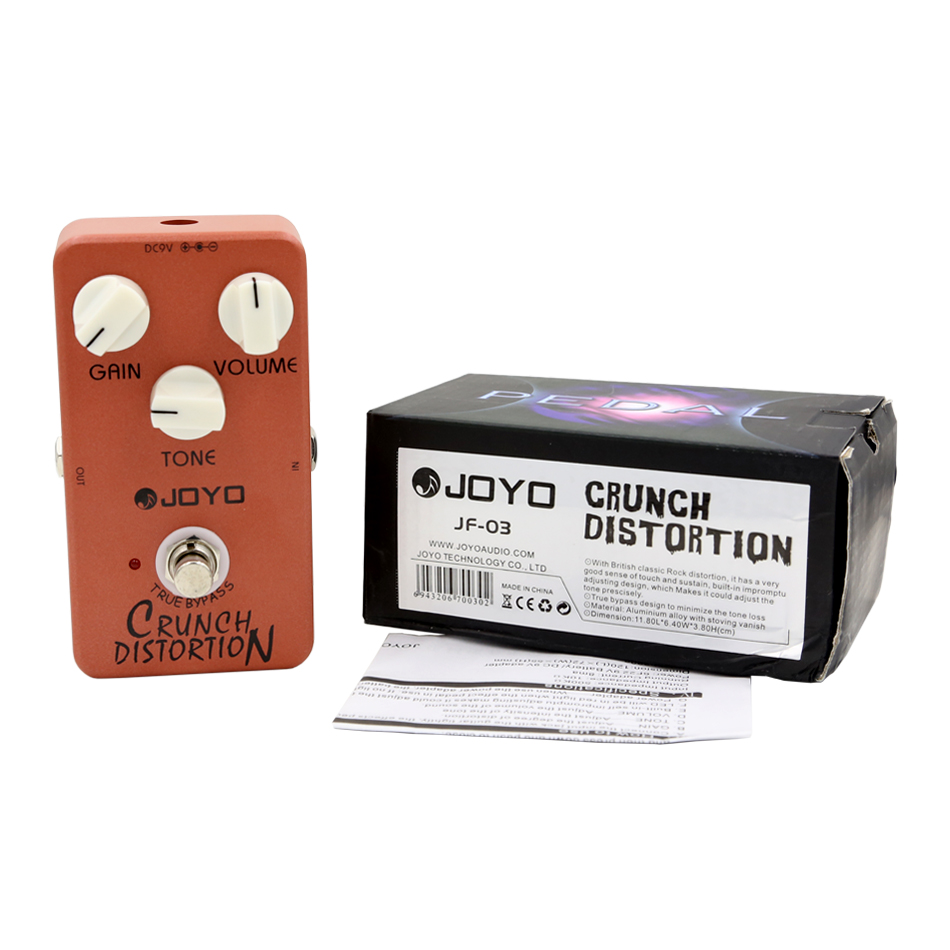 цена на JOYO JF-03 Crunch Distortion Guitar Effect Pedal British classic rock distortion with True Bypass