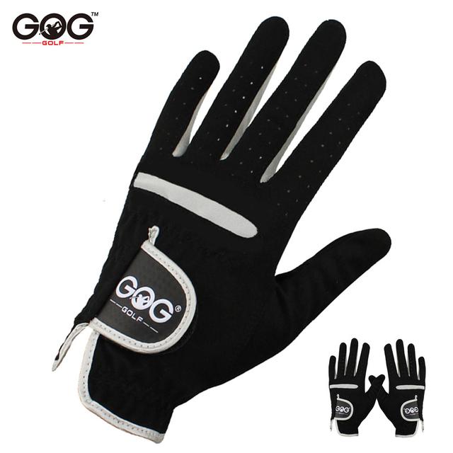 1 Pcs Men's Golf Glove Left Hand Right Hand Micro Soft Fiber Breathable Golf Gloves Men Color Black Brand GOG