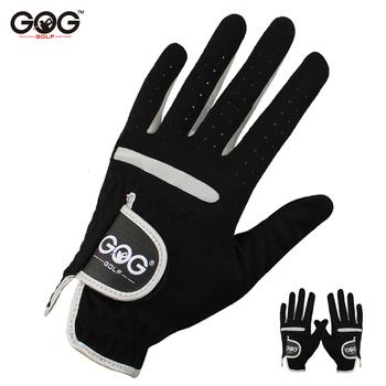 1 sztuk męska rękawica golfowa lewa ręka prawa ręka mikro miękkie włókno oddychające rękawice golfowe mężczyźni kolor czarny marka GOG tanie i dobre opinie Tkaniny M1ST006