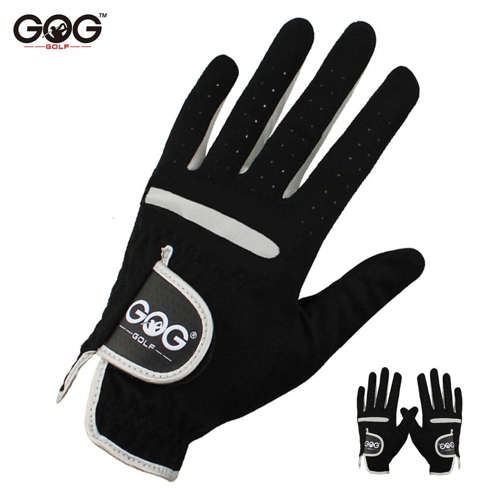 1 шт., Мужская перчатка для гольфа, для левой руки, для правой руки, микро мягкое волокно, дышащие перчатки для гольфа, мужские, цвет черный, бренд GOG|Перчатки для гольфа|   | АлиЭкспресс