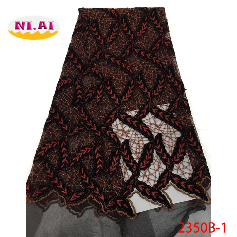 Latest French Velvet Cord Lace Fabrics High Quality 2018 Nigerian Lace Fabric For Wedding Dress African