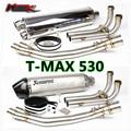Moto modificada escape TMAX YMH 530 longer seção especial de fibra de carbono de escape Yoshimura Escorpião