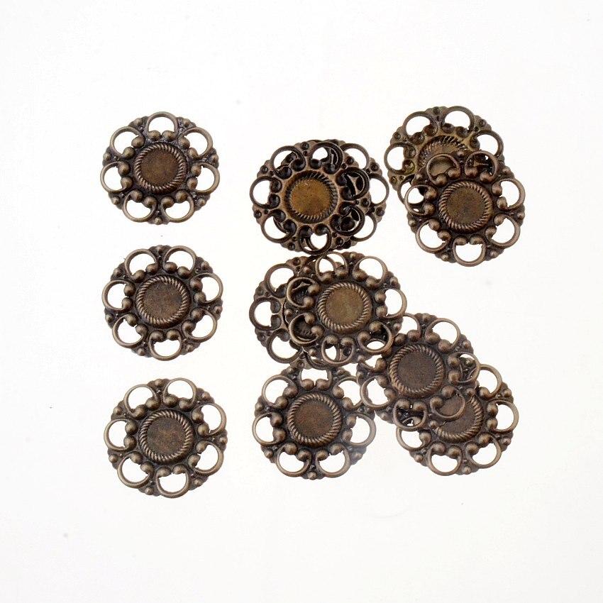 500pcs plaqué or Laiton Stardust Métal Perles Nickel Libre Loose Spacer Rond 6 mm